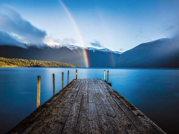Rainbow at Lake Rotoiti Jetty.jpg
