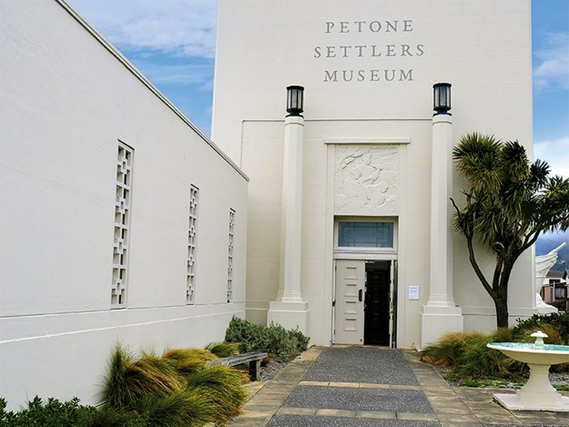 Petone Settlers Museum building is a commanding presence on the waterfront