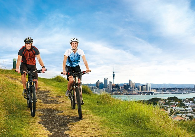 Cycling on North Head, Devonport.jpg