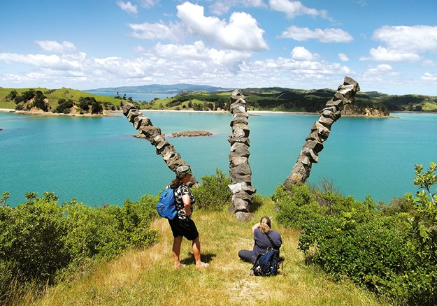 Chris Booth Sculpture at the southern end of Rotoroa  Island.jpg