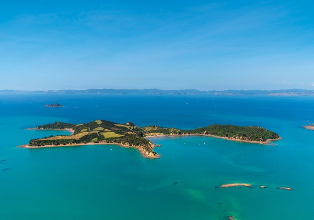 aerial shot of Rotoroa Island from above with uninterrupted green land sitting amongst blue ocean.jpg