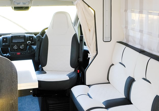 The seating fabric is a very durable 'eco' leather