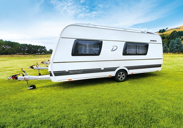 The Nomad 490 EST from Dethleffs is available through Central RV in Taupo