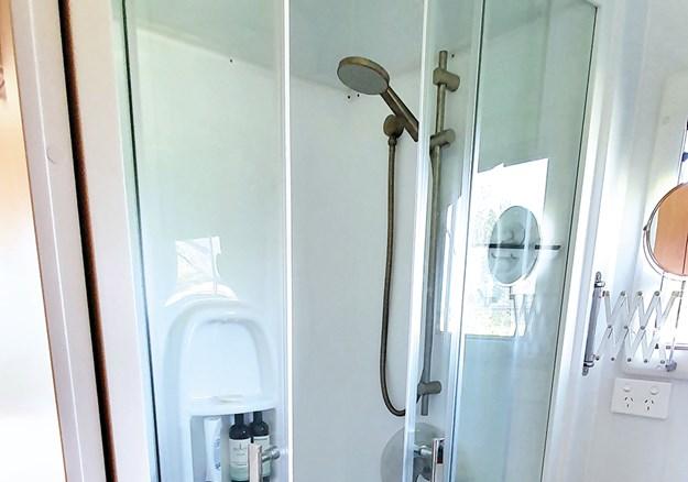 The full-sized shower