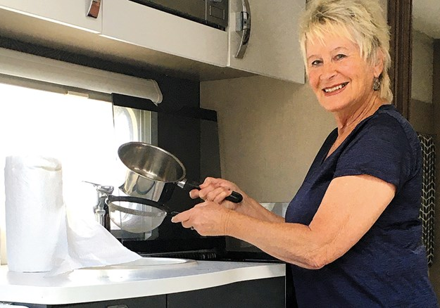 Robin's two essential kitchen items are a sieve and paper towels