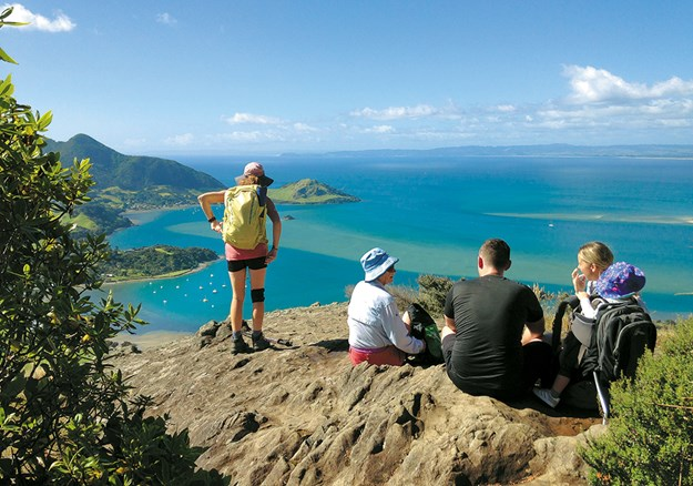 Taurikura from the lookout off the boardwalk on the Mount Manaia Trail.jpg