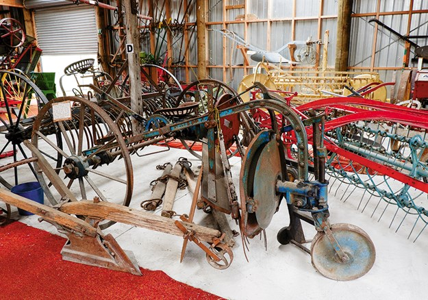 Well-used agricultural machinery