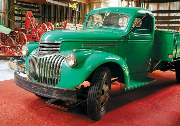 A vintage Chevrolet truck
