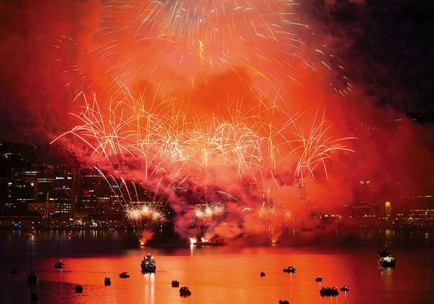Fireworks at Wellington's Matariki festival
