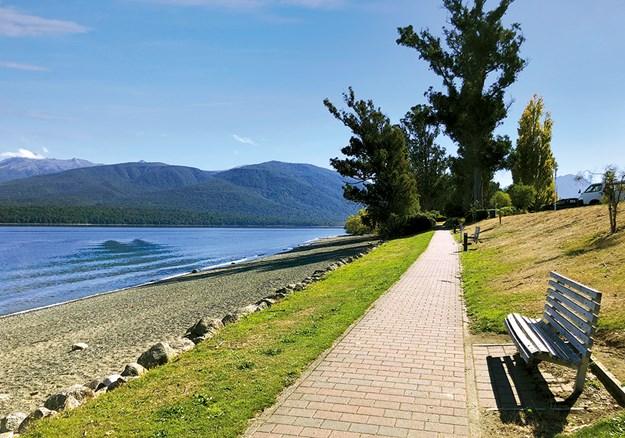 The lakefront walkway