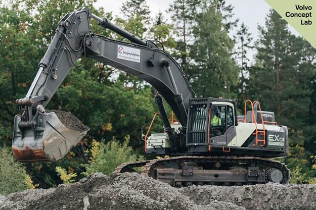 Volvo-EX1-electric-excavator
