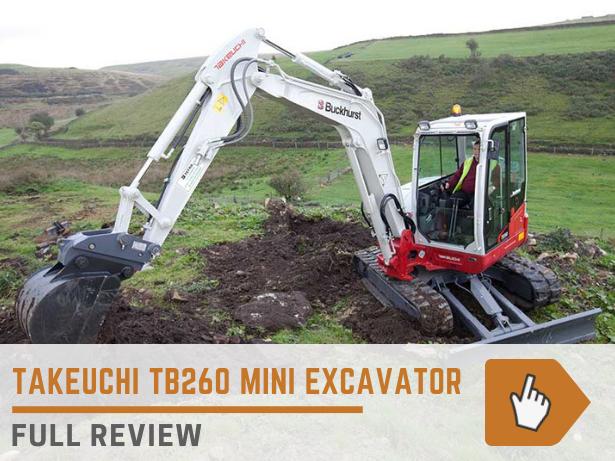 Takeuchi TB260 mini excavator