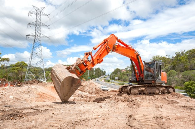 Excavator-at-roadworks