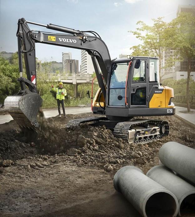 Volvo EC75D excavator
