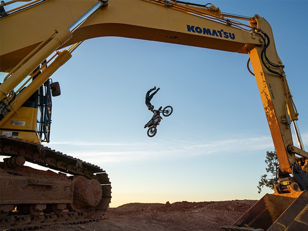 Mighty Machines TV teams up with Komatsu and X Games gold medallist Jackson 'Jacko' Strong