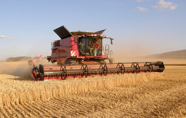 The Case IH Axial 250 harvesting