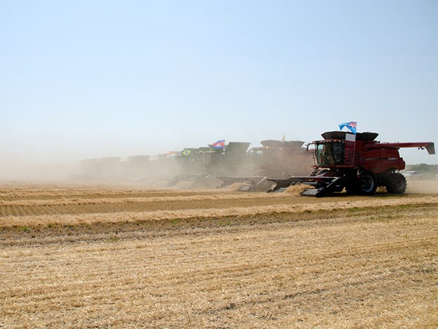 Over 300 combines took part in the Harvest for Kids event