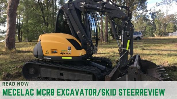 Mecalac MCR8 excavator skid steer