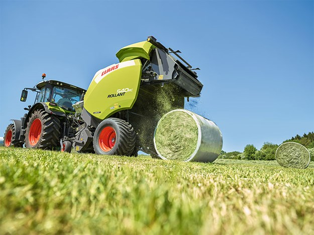 The Claas Rollant RC540 baling