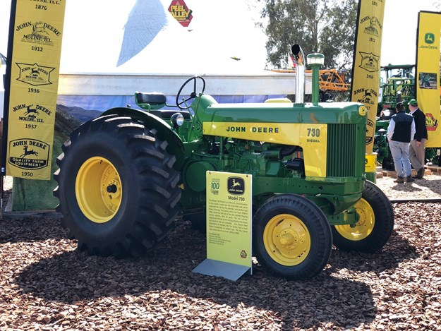 The John Deere model 730 on display