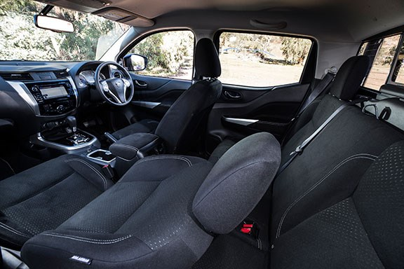 The Mitsubishi Navara's interior