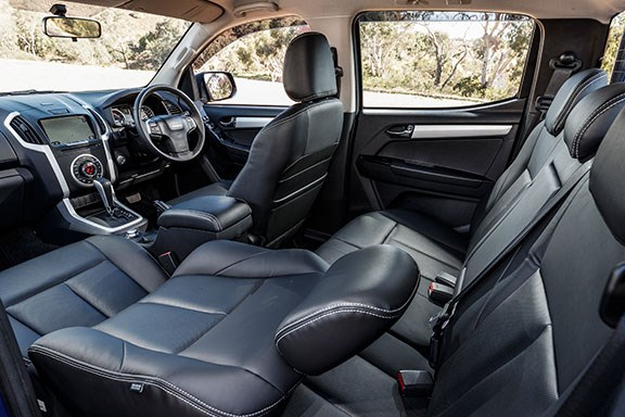 The Isuzu's interior