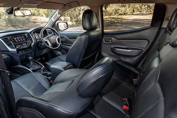 The Mitsubishi Triton interior