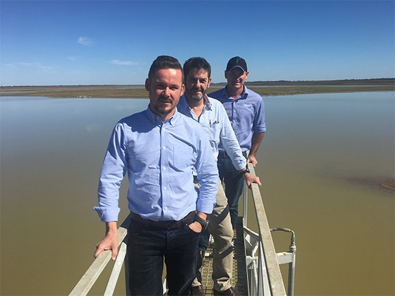 Westpac Director Principle Investments Anthony Potts, Delta Agribusiness Director Chris Duff, Goanna Ag GM Tom Dowling