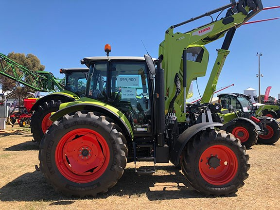 The Claas Arion 430 on display