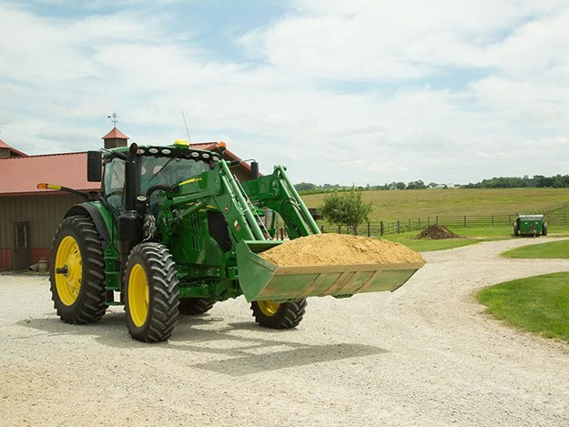 A multi-function joystick, variable ratio steering and better hydraulic pump capability will be introduced to the 6R range of John Deere tractors in the new year.