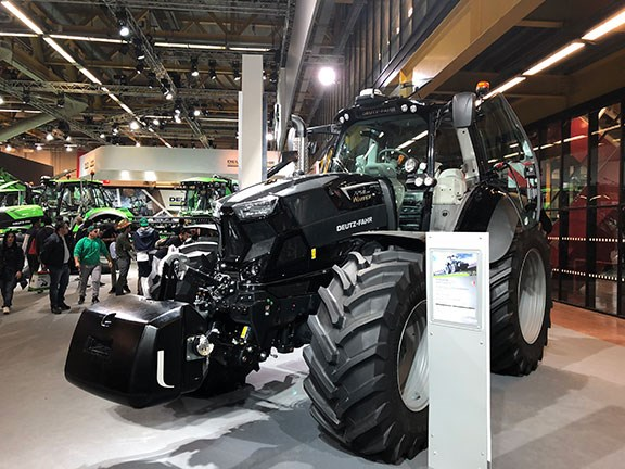 The limited edition Deutz-Fahr 7250 TTV Warrior