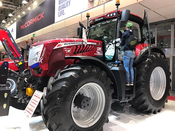 The McCormick X8 on display at EIMA 2018