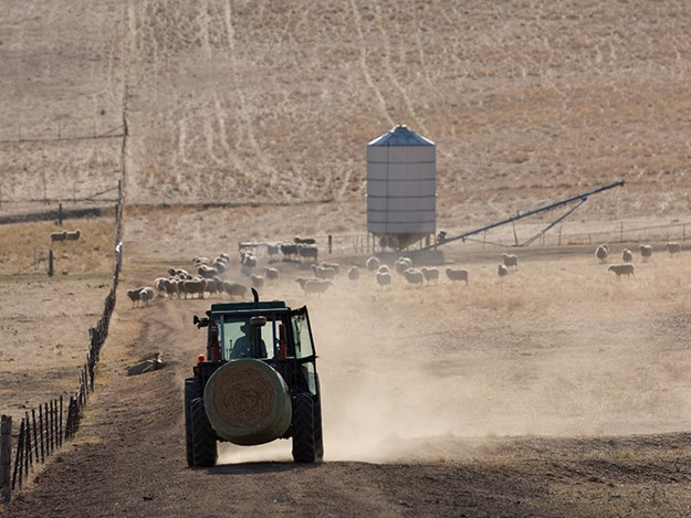 Tractor sales are down in the drought-affected Eastern States of Australia, dragging down the national trend
