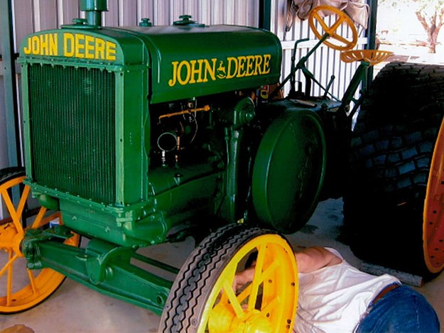The restored John Deere Model D