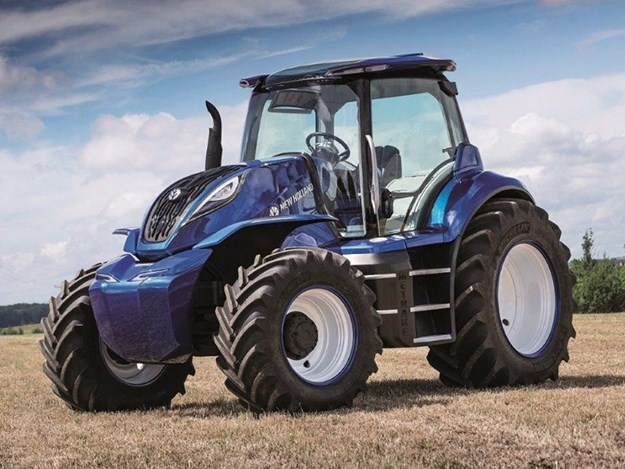 The methane concept New Holland tractor