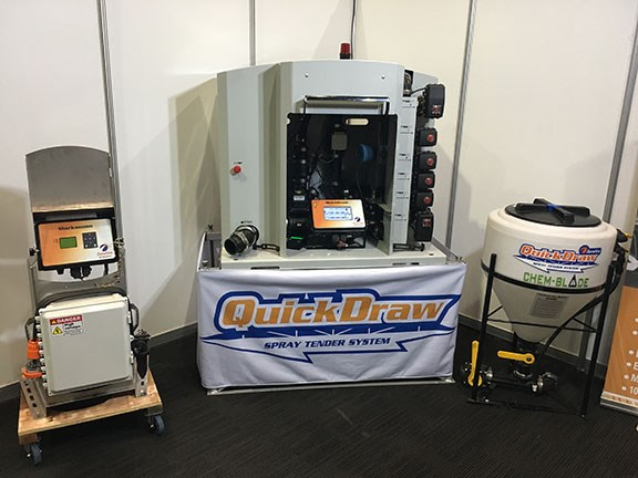 SureFire Agricultural's QuickDraw automated chemical batching station can mean significant time savings on the ground