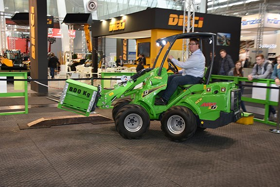 The Avant e6 all electric wheeled loader