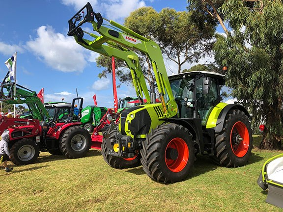The New Claas Arion 660 tractor side on