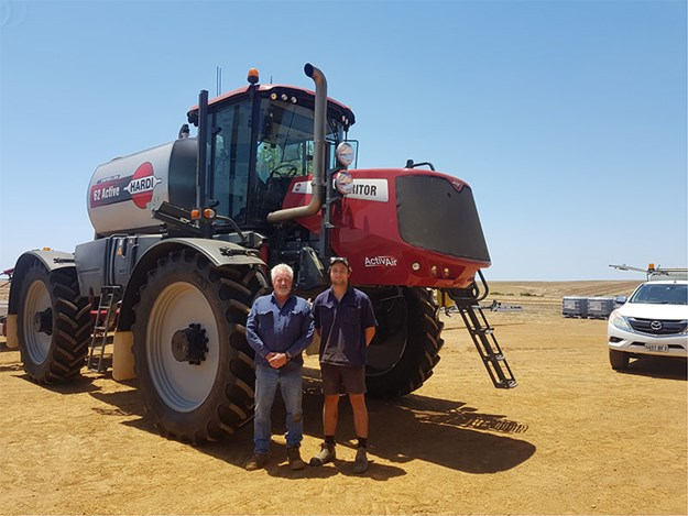 Paddy Barber and his son Nick, with their new Hardi Saritor 62 Active
