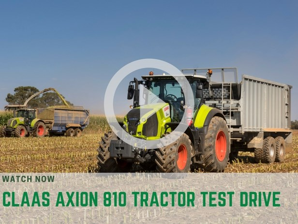 Claas Axion 810 test