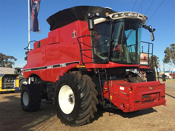 In retro colours, there was nothing old about Case IH's Axial-Flow 7150 combine