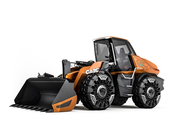 Case's new methane powered loader concept