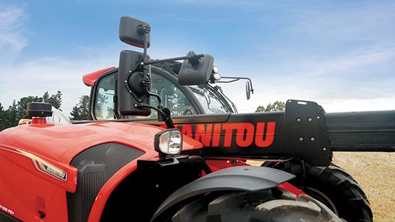 The Manitou has a lift capacity of 3.7 tonnes and a max lift height of 6.9m