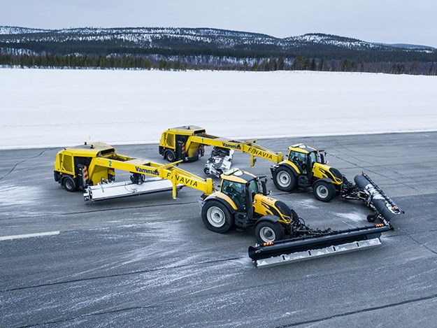 Valtra's autonomous snowplow will be used at Finland's northernmost airport