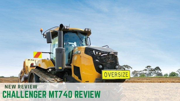 Challenger MT740 working hard