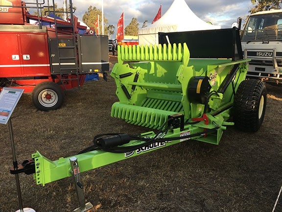 Schulte G2500 giant rock picker at farmfest 2019