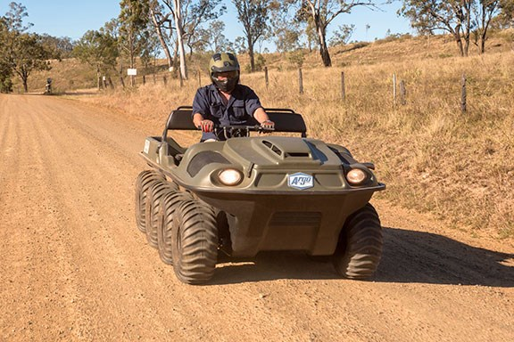 The Argo 8x8 is fast on the road
