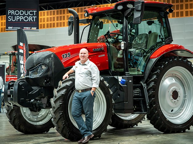 Case IH Maxxum 135 and Product Manager Seamus McCarthy
