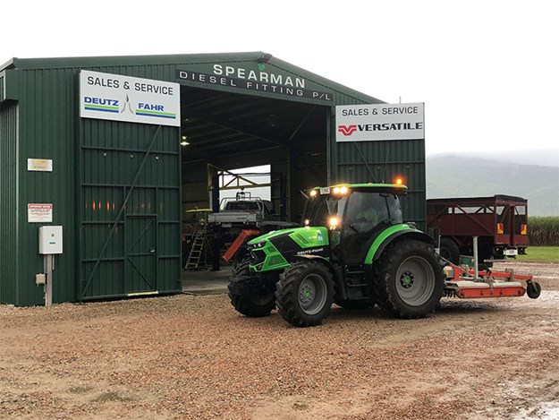 The Deutz-Fahr 6130 parked proudly