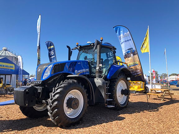 The New Holland T8 Genesis on display